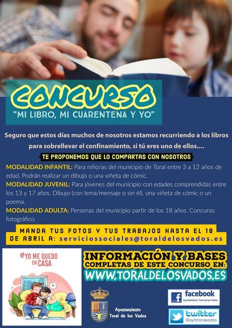 Toral de los Vados te propone el concurso: Mi Libro, mi cuarentena y yo