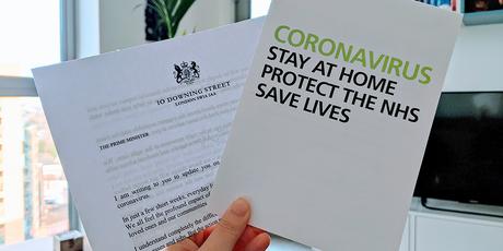 Carta del gobierno de UK sobre el coronavirus