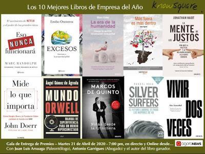 Los 10 Libros Finalistas de la IX Edición de los Premios KnowSquare