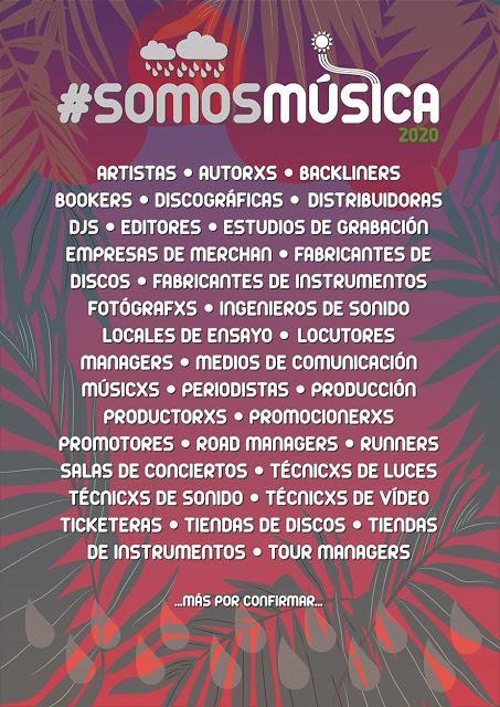 #SomosMúsica: campaña para visibilizar la situación de la industria musical