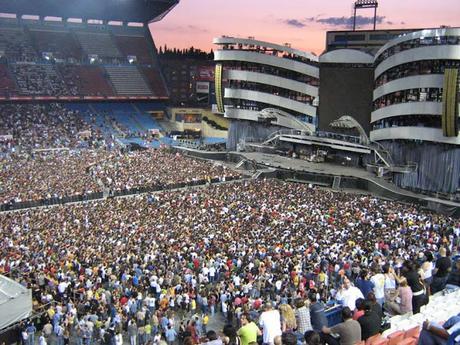 Vídeos de conciertos: The Rolling Stones el 28 de junio de 2007 en el Vicente Calderón de Madrid