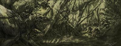 Los escenarios de fantasía dinosauriana de Rodrigo Vega