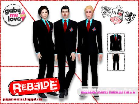 REBELDE School Uniforms Part. 2 (Sims 4)