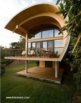 casa de madera de diseo