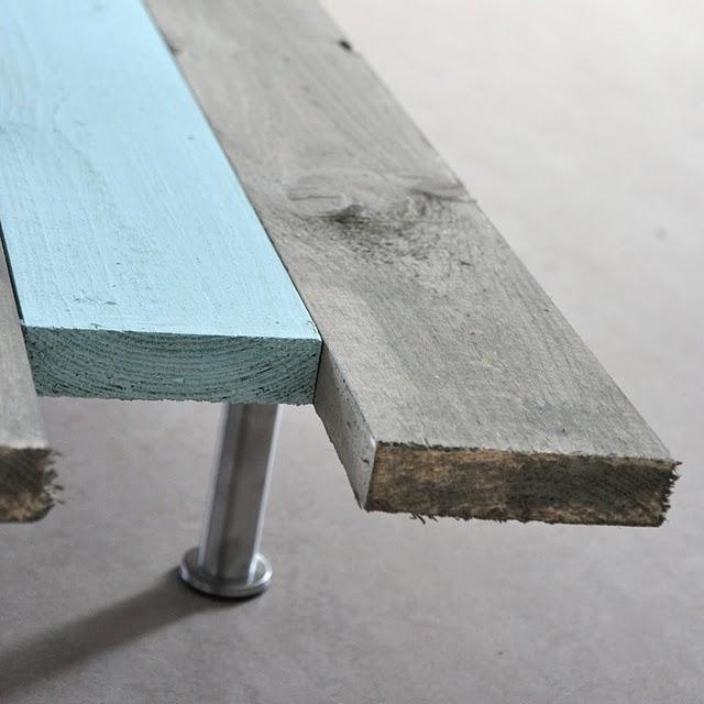 Diy una mesa de centro con 8 tablas paperblog - Tablas para mesas ...