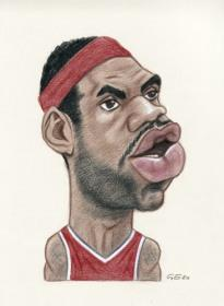 Caricaturas de Lebron James