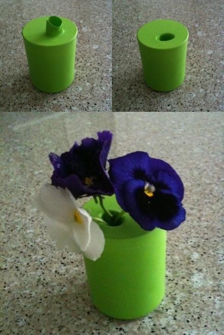 Decora con floreros de colores
