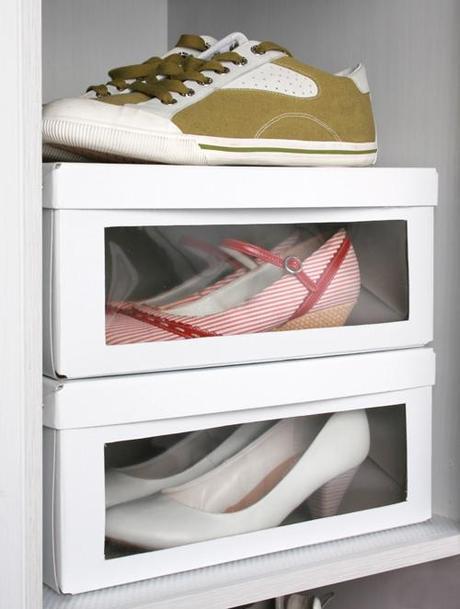 Ikea-Hack: caja de zapatos con ventana