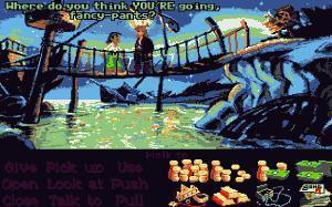 Guybrush, tremendamente rico, es desplumado por Largo antes de que nos dé tiempo a gastar un miserable doblón.