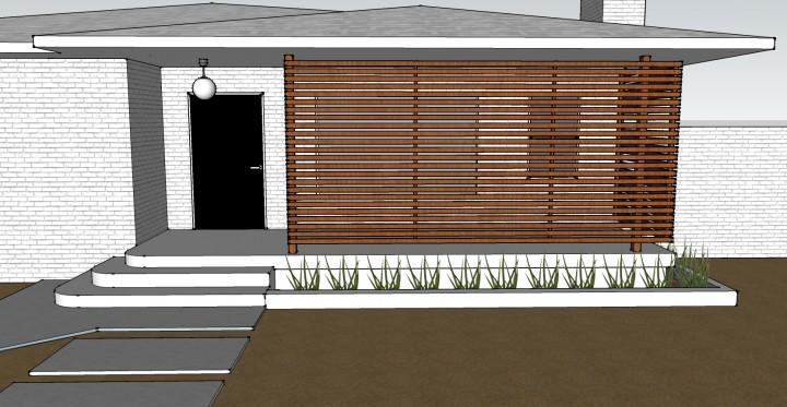 Diy una pared de listones de madera para el porche for Listones de madera para palets