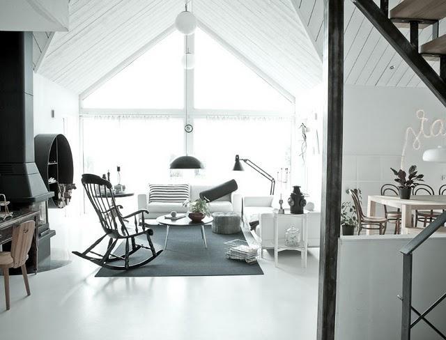 Sal n en blanco y negro paperblog - Salon en blanco y negro ...