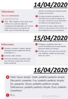 Soluciones de Lengua (13/04/2020 al 17/04/2020)