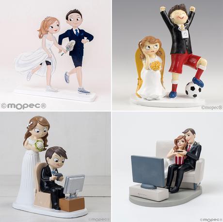 Figuras pastel de boda divertidas