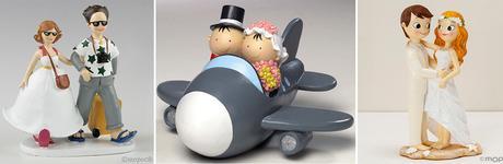 Figuras pastel para bodas viajeras