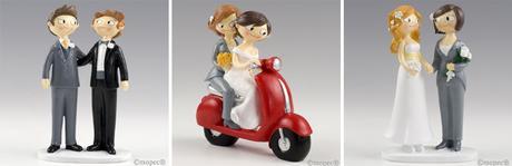 Figuras lesbianas pastel de boda