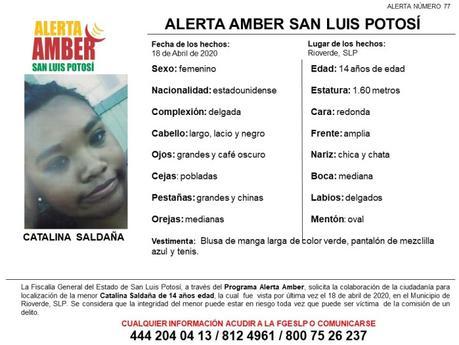 Alerta Amber: se busca a niña de 14 años desaparecida en Rioverde