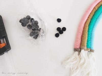DIY Arcoiris con lana