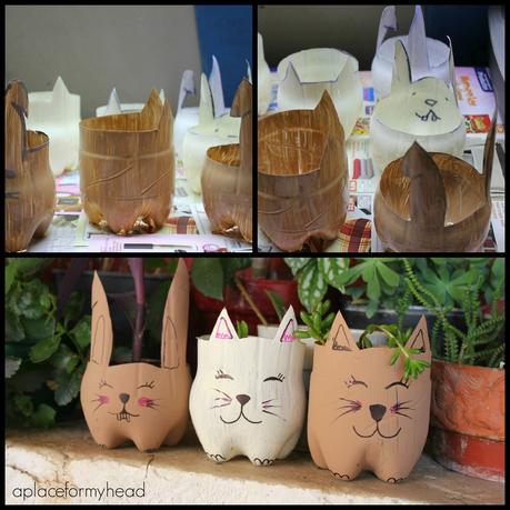 DIY: Macetas de animales