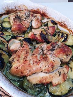 Pechugas de pollo al horno con tomillo