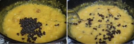 Pudin de pan con chocolate y naranja sin horno