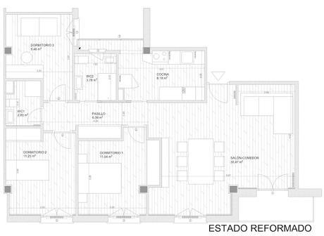 plano del estado reformado de la reforma integral de la vivienda en segovia