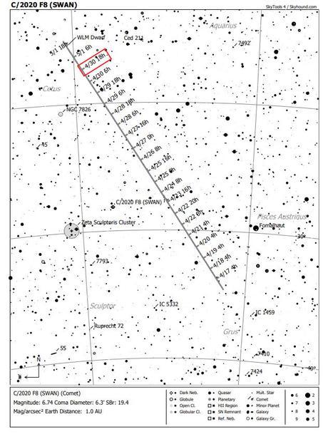 El cometa SWAN (C/2020 F8) está dejando impresionantes imágenes. Acá te explico los aspectos más importantes de este cuerpo celeste y como observarlo