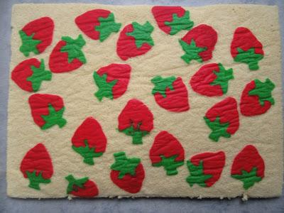 Brazo gitano de queso y fresas Thermomix