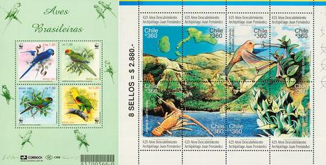 Las más hermosas emisiones de sellos postales latinoamericanos con la temática Aves (2a parte).