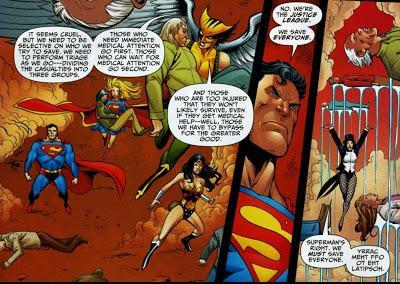 La Liga de la Justicia contra el triaje