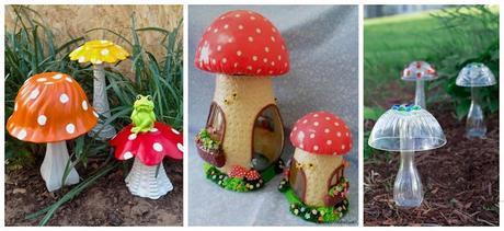 Haz hermosos hongos decorativos usando botellas recicladas