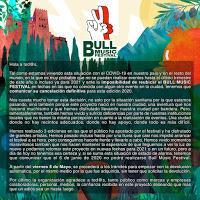 Comunicado cancelación Bull Music Festival  2020 en Granada