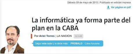 La informática ya forma parte del plan en la CABA