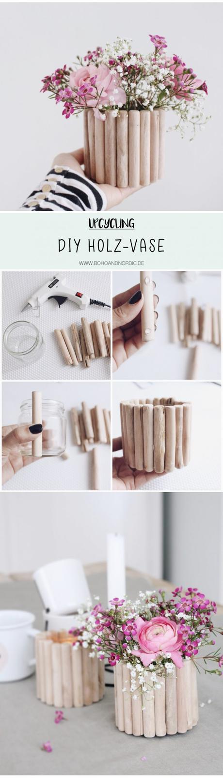 3 manualidades con palitos de madera - Maceta con palitos de madera - Paso a paso -Laucreativa