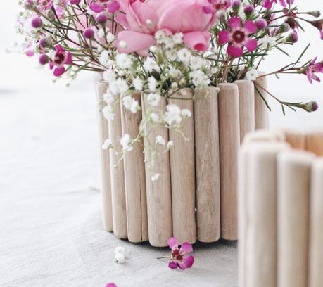3 manualidades con palitos de madera - Maceta con palitos de madera -Laucreativa