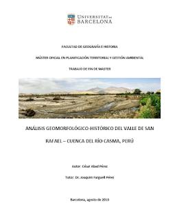 Estudio Geomorfológico en la cuenca del río Casma contribuye con el control de inundaciones en el Perú
