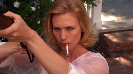Betty Draper y su escopeta en 'Mad Men'