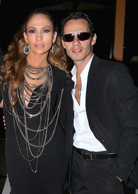 Marc Anthony con la madre de Jennifer López