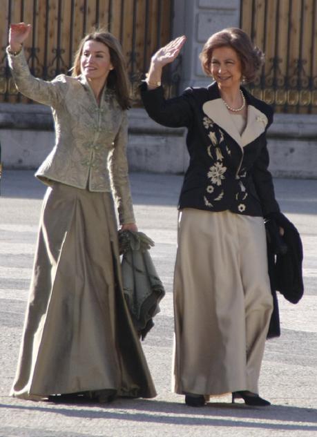 La Reina Letizia con la Reina Sofía