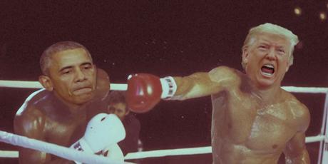 Obama vs Trump, la rabiosa pelea entre dos capos mafiosos