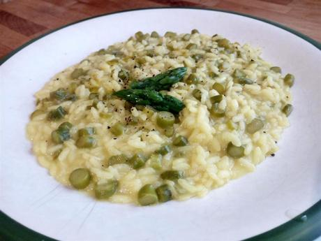 Risotto de espárragos trigueros - Risotto con asparagi - Best italian asparagus risotto recipe