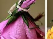 Aprende cómo hacer muñecas forma rosa hechas papel crepe