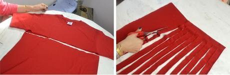 eco ideas transforma tus camisetas viejas en una bufanda 001 Eco ideas Transforma tus camisetas viejas en una bufanda reutilizar ropa vieja ideas reciclar eco ideas camisetas viejas en una bufanda bufanda ropa vieja