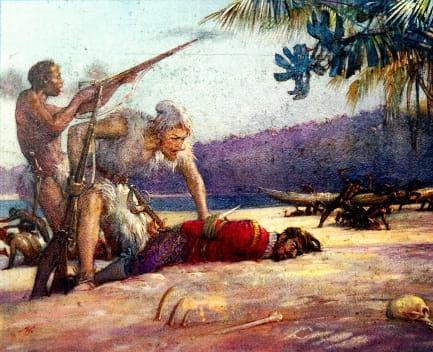 crusoe viernes y capitán
