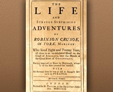 Robinson Crusoe Publicación 1719