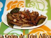 Setas fritas condimentadas ajos laurel