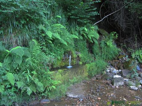 Fuente en el camino de bajada