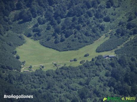 Vista de Brañagallones, desde la Sierra de Brañapiñueli