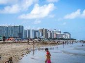 Miami días allá playa palmeras