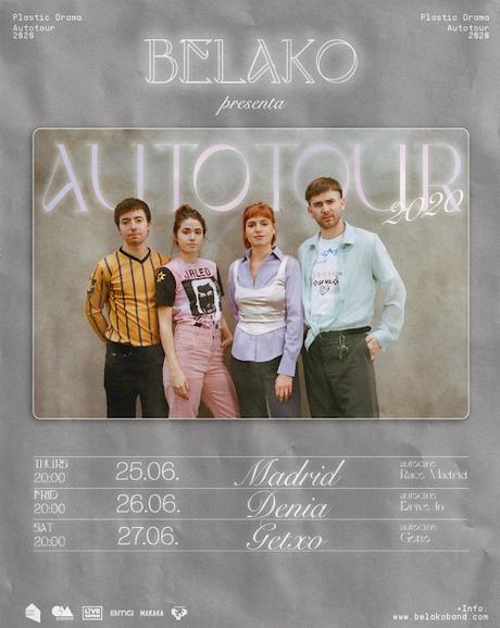 Belako actuarán en autocines de Madrid, Denia y Getxo los días 25, 26 y 27 de junio