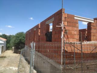 muro de carga termoarcilla vivienda unifamiliar en esquina